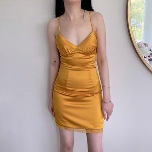 Mistress Rocks Courtesan Mini Satin Dress